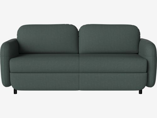 Fluffy 2 seater sofa bed - Nantes - Fabric, Dark green | Bolia.c