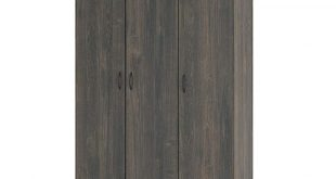 Ameriwood Rodeo Weathered Oak 3-Door Wardrobe | Weathered oak .