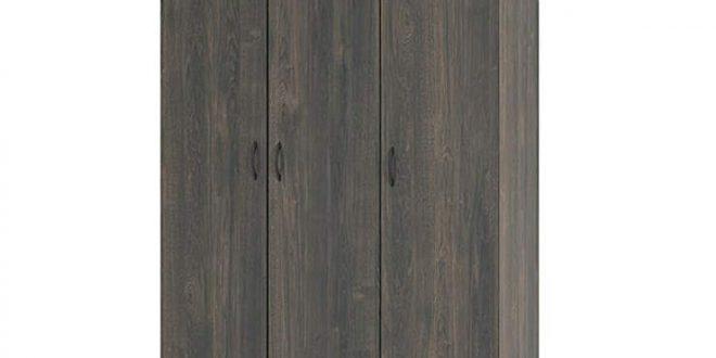 Ameriwood Rodeo Weathered Oak 3-Door Wardrobe | Weathered oak .
