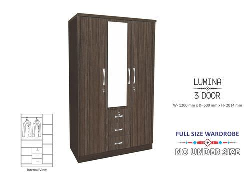 Lumina 3 Door Wardrobe, Dimension: 1200 X 600 X 2014 Mm | ID .