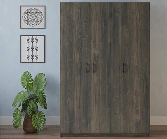 Ameriwood Rodeo Weathered Oak 3-Door Wardrobe | Big Lo
