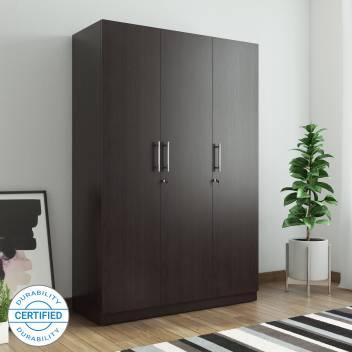 Spacewood Optima Engineered Wood 3 Door Wardrobe Price in India .