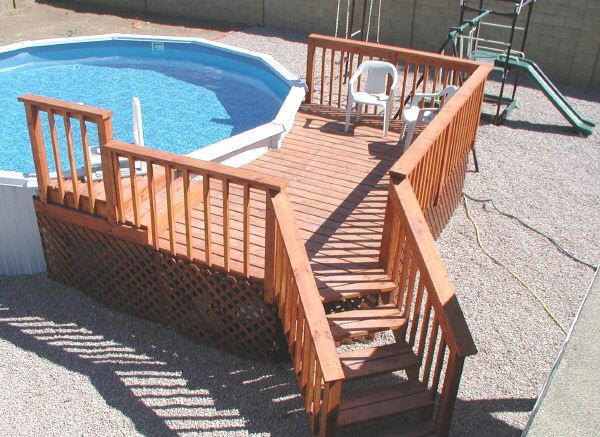 Above Ground Pool Design Ideas | Planning Above Ground Pool Deck .