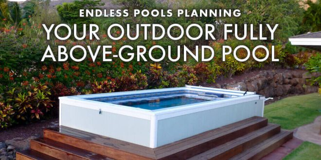 Deck swimming pools, above or in-ground lap poo