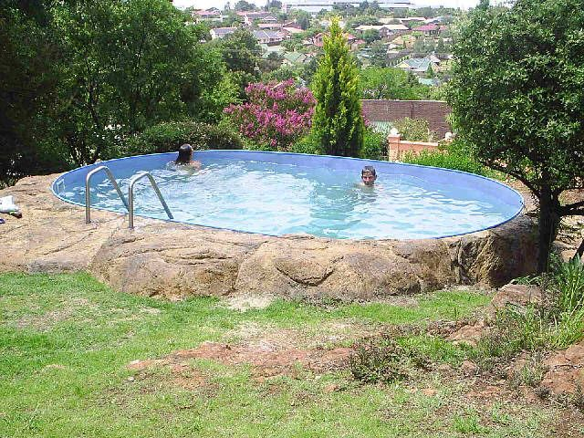 Diy Pools | Backyard pool landscaping, Pool landscaping, Above .