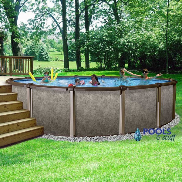 "Riviera 33' Round, 54"" Deep Above-Ground Pool Kits 