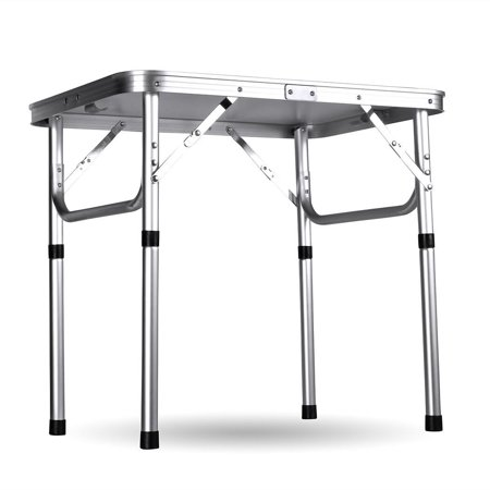 Folding Table Adjustable Height, Aluminum Camping Table .