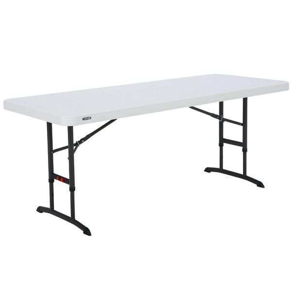 Lifetime 6' Adjustable Height Folding Table - 80565 | WebstaurantSto