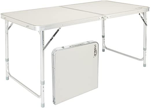 Amazon.com: VINGLI 4 Foot Folding Table with Adjustable Height .
