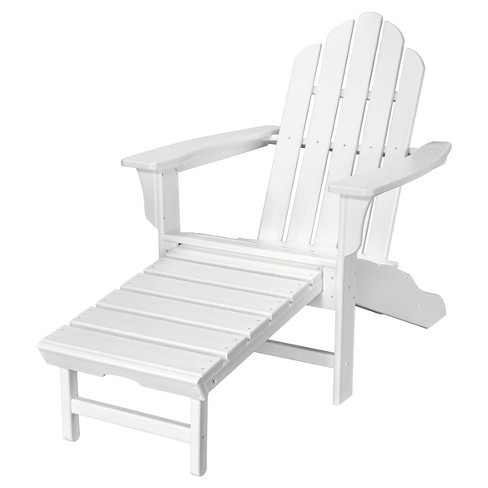 Hanover All-Weather Contoured Adirondack Chair WithHideaway .