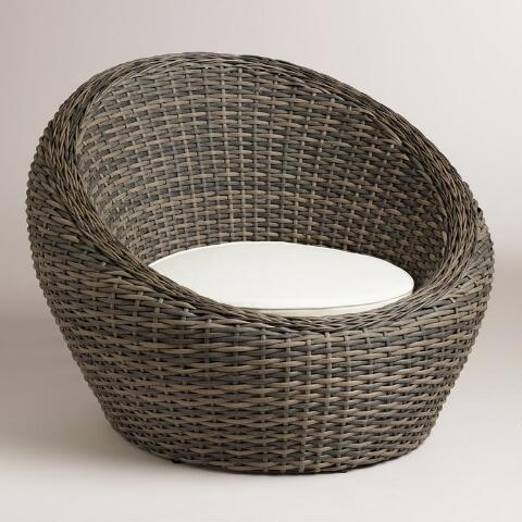 All-Weather Wicker Formentera Egg Outdoor Chair | World Mark