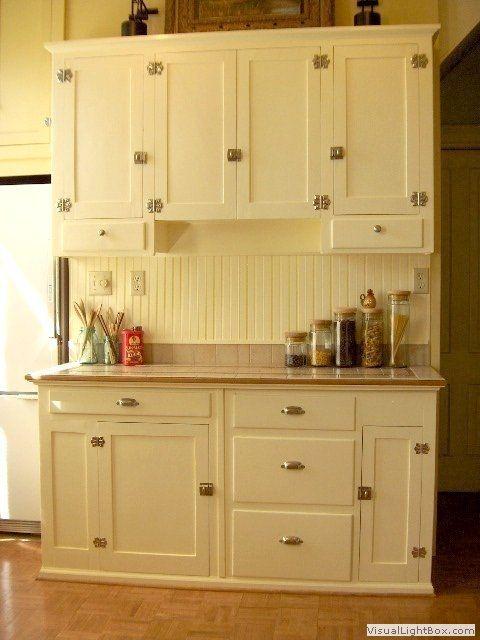1940's kitchen cabinets | Kithcen with 1940's restored kitchen .