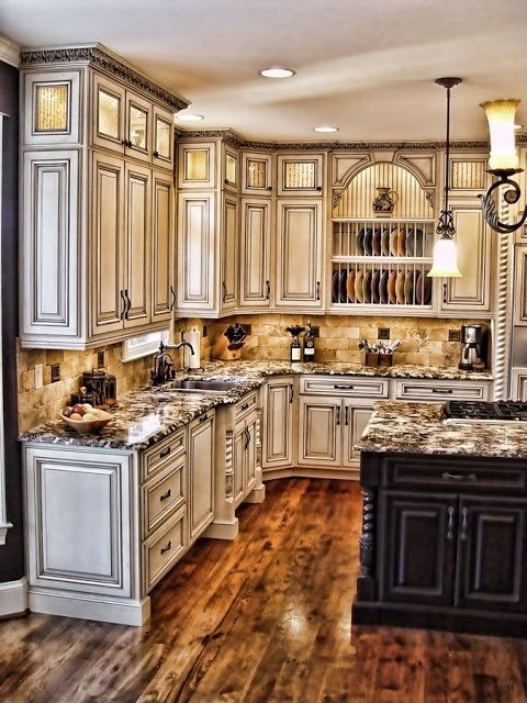 50+ Antique White Kitchen Cabinets You'll Love in 2020 - Visual Hu