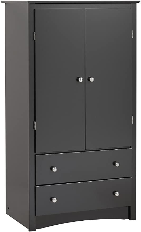 Amazon.com: Black Sonoma 2 Door Armoire: Kitchen & Dini
