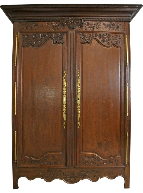 Consigned Armoire Antique French Country Farmhouse - Traditional .