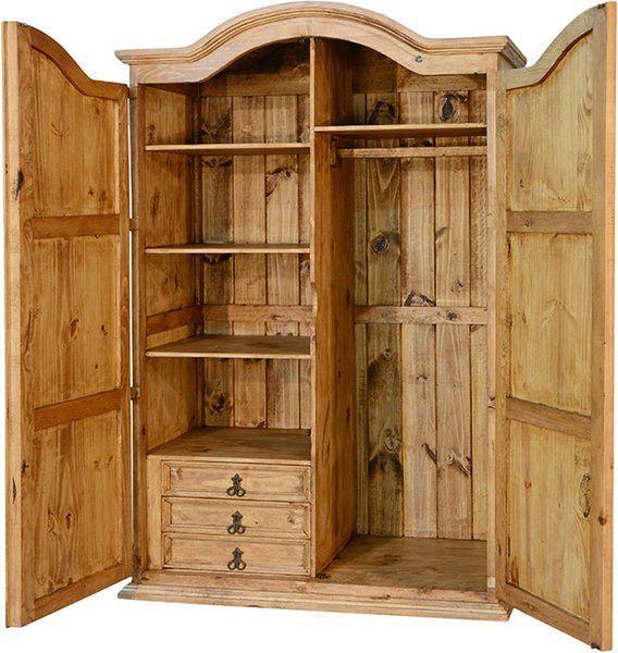 Corona Rustic Wardrobe Armoire R   Wardrobe armoire, Bedroom armoi