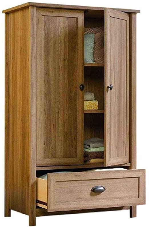 Amazon.com: Armoire Wardrobe Closet Wood for Bedroom Oak 2 Doors .
