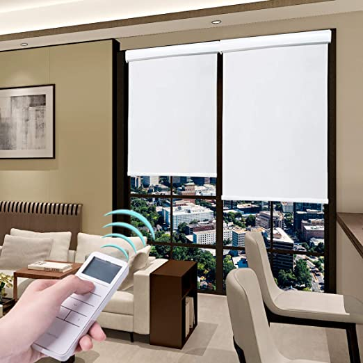 Amazon.com: Roller Blinds Motorized Blackout Cordless Thermal .