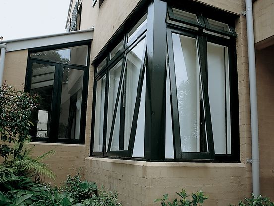 Multiple awning windows Black aluminium | Awning windows, Aluminum .