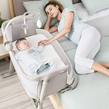 Amazon.com : Baby Bassinet, RONBEI Bedside Sleeper Baby Bed Cribs .