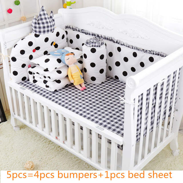 New Cotton Crib Bedding Set For Newborn Baby Cot Bedding Set .