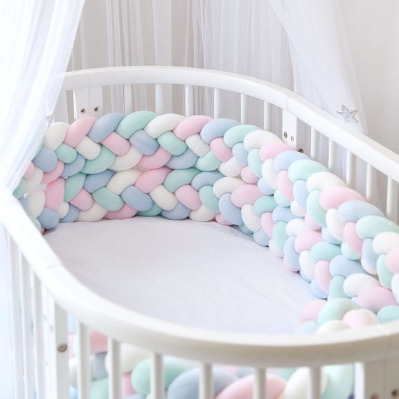 Baby Crib Bumper Knotted Baby Bed Bumper 4 Braided Knotted | Et