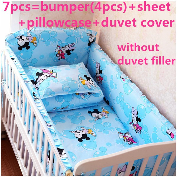 cama infantil kit berco 6/7pcs Cartoon baby cot crib bedding set .