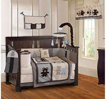 Amazon.com : BabyFad Teddy Bear 10 Piece Baby Crib Bedding Set : Ba