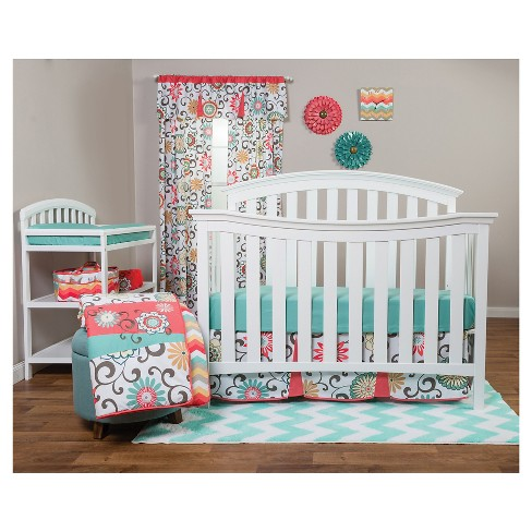 Waverly Baby By Trend Lab 3pc Crib Bedding Set – Pom Pom Play : Targ