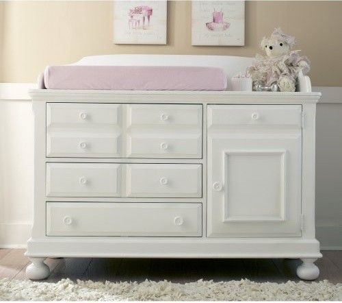 Creations Baby Summers Evening Combo Dresser in Rubbed White .
