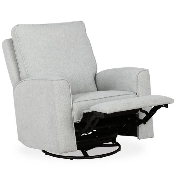 BABY RELAX Joyce Light Gray Swivel Gliding Recliner FH8166-GR .