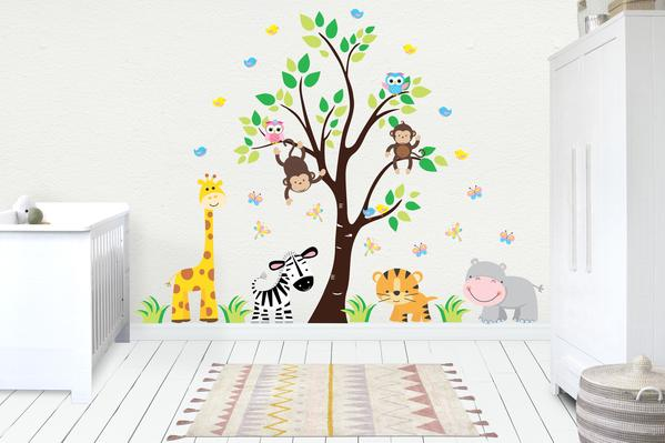 Wall Decals Baby | Kids Room Stickers | Jungle Baby Decals .