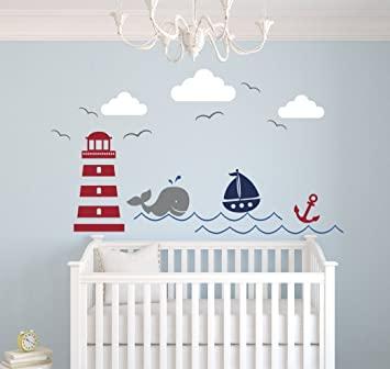 Amazon.com: Nautical Theme Wall Decal - Nautical Decor - Nursery .