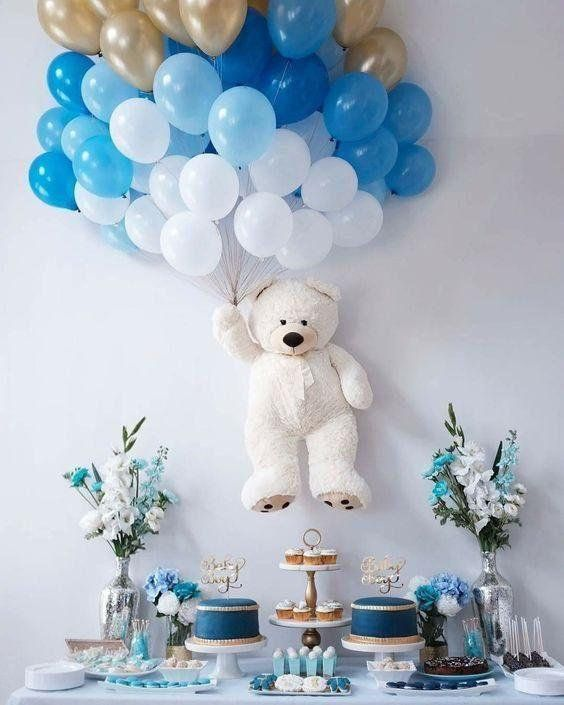 Teddy Bear Baby Shower Decoration | Unique Baby Shower | Baby .