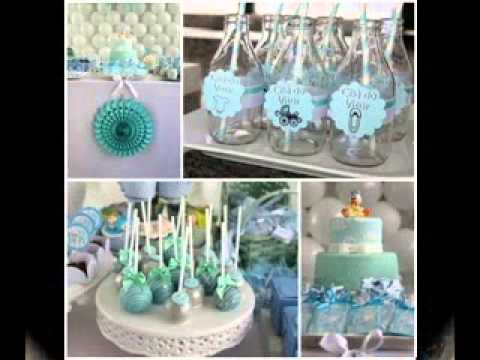 Boy baby shower decorating ideas - YouTu