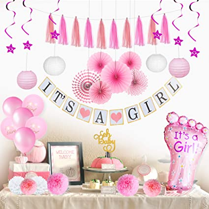 Amazon.com: Baby Girl Baby Shower Decorations for Girl I Baby .