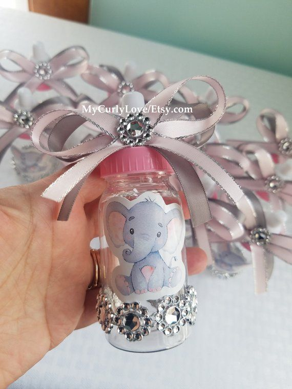 Baby Elephant Centerpiece/Girl Elephant Baby Shower/Girl Baby .