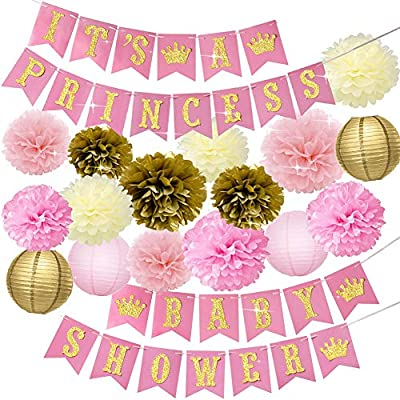 Amazon.com: Baby Shower Decorations for Girl Pink and Gold .