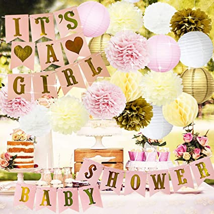 Amazon.com: Princess Baby Shower Decorations for Girl Pink and .