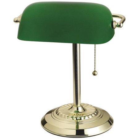 Living Accents 17466-012 Bankers Lamp, Brass - Walmart.com .