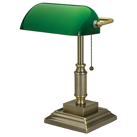 Realspace Traditional Bankers Lamp Brass - Office Dep