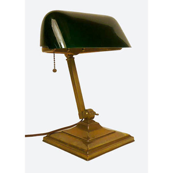 Decorative Arts, Lighting, Emeralite Bankers Lamp, Early 20th .