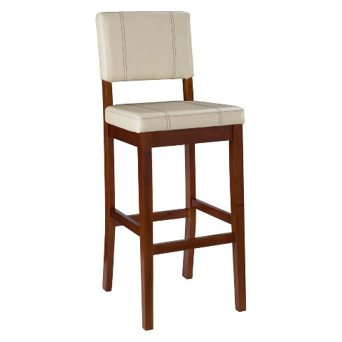Milano Padded Bar Stool Upholstered Seat & Back - Linon : Targ