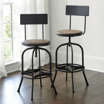 Allen Swivel Bar Stool with Ba