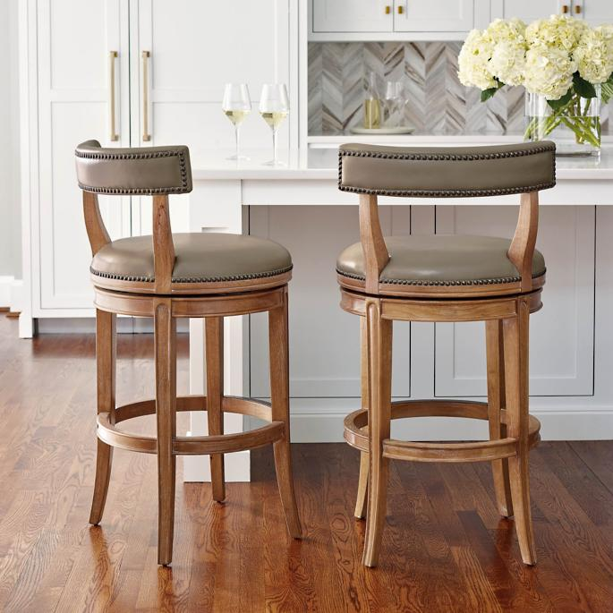 Henning Low Back Bar and Counter Stools | Frontga