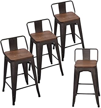 Amazon.com: Andeworld Set of 4 Tolix-Style Counter Height Stools .