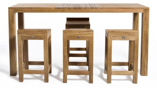 Hospitality : Patio Bar Table And Stool (Table 180x60x105; Stool .