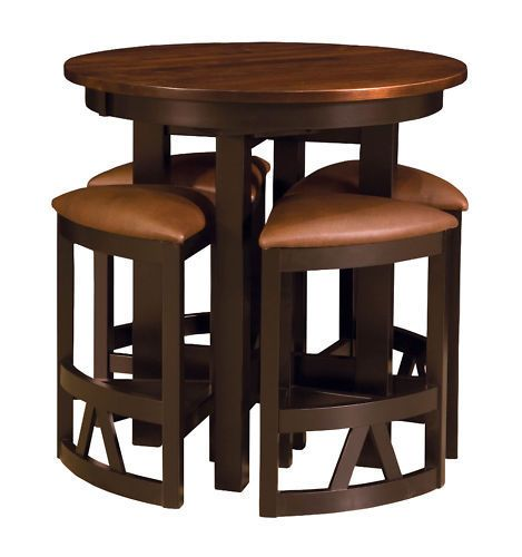 Amish Pub Table Chairs Set Bar Height High Dining Stools Modern .
