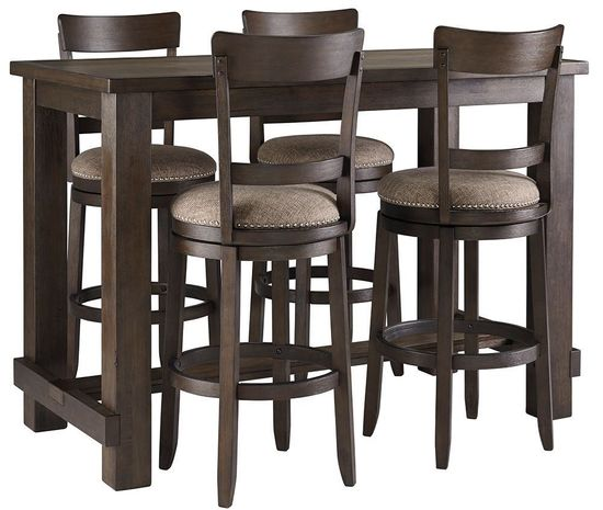 Drewing Bar Table with Four Stools | The Furniture Ma