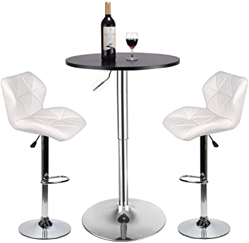 Amazon.com: YOURLITEAMZ Bar Table and Chairs Set of 3 – Heigh .